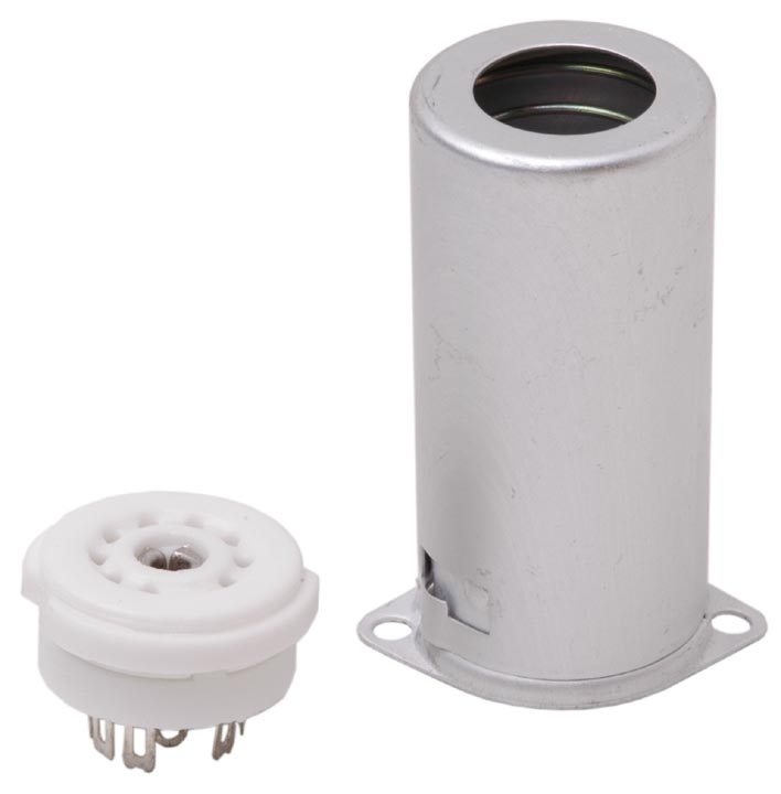 Ceramic 9 pin valve Socket & Shield